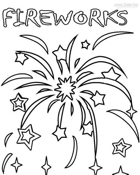 free coloring pages of firework