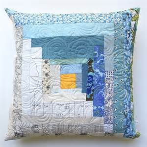 my quilt could live here log cabin patchwork throw pillow