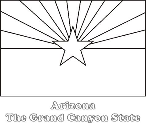arizona state colors large printable arizona state flag to color from