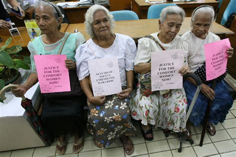philippines comfort women philippine comfort women protest for justice china org cn
