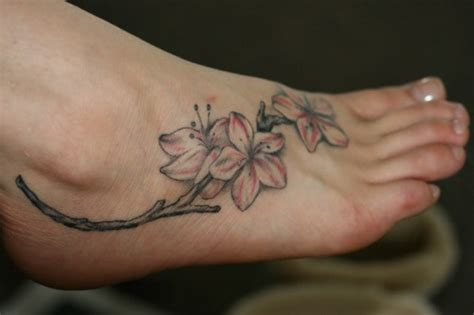 Flowers Tattoos For Feet Flower Foot Tattoos Pictures