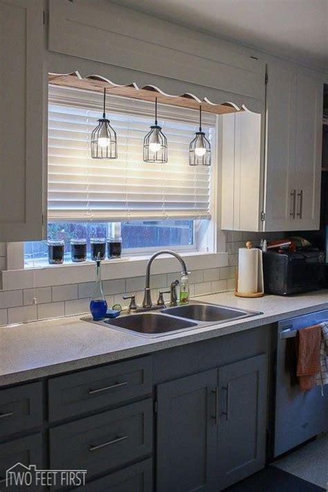 light fixture above kitchen sink