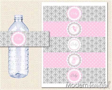 baby shower water bottle labels template unavailable listing on etsy