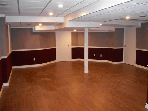 basement recessed lighting and dropped ceilings and interior paint color also wall panel for