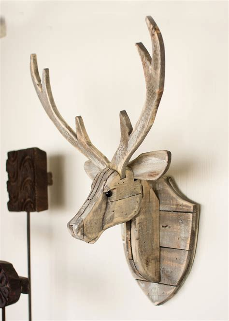 recycled wood wall recycled wood deer wall hanging