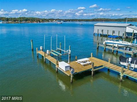 boat lift odenton md edgewater wow house 850k buys selby bay waterfront