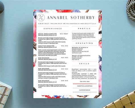 annabel sotherby beautiful resume template images