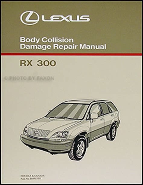 old car manuals online 2002 lexus rx electronic toll collection lexus rx 300 body manual 1998 1999 2000 2001 2002 rx300 collision repair shop ebay