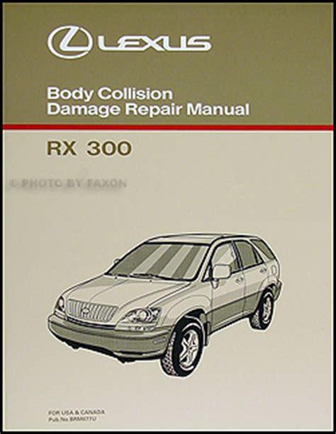 best auto repair manual 2004 lexus rx parking system lexus rx 300 body manual 1998 1999 2000 2001 2002 rx300 collision repair shop ebay