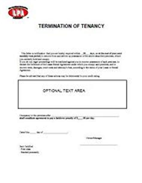 Lease Termination Letter Washington State Eviction Notice Lease Termination