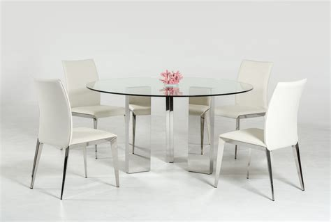 contemporary glass dining table modern round glass top dining table with stainless steel