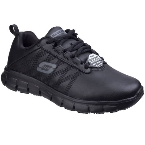 skechers sure track erath womens slip resistant work shoes