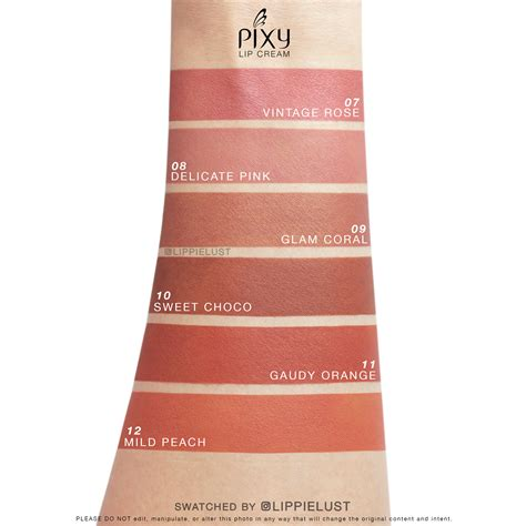 Pixy Eyeshadow Summer Review review swatches all 12 shades of pixy cosmetics lip