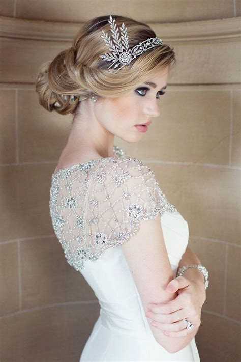 1920 bridal hair styles great gatsby wedding 1920 s wedding theme 2074091