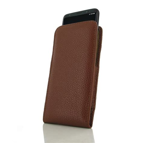 samsung galaxy pouch samsung galaxy s8 leather sleeve pouch brown pebble