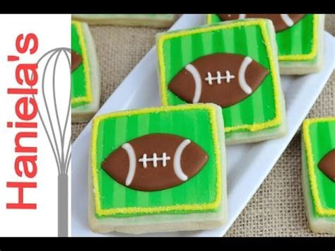 how to decorate football cookies with royal icing