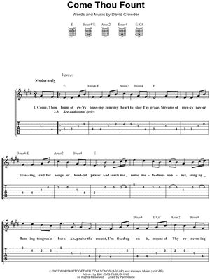 Come Thou Fount Guitar Chords And Lyrics