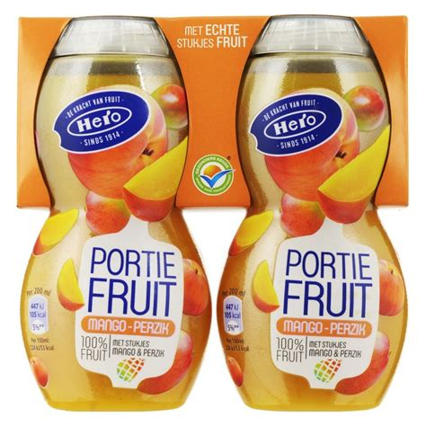 fruit 2 day fruit2day mango perzik 2 x 200ml vruchtensappen