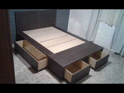 dormibox sabemos como hacer una cama  cajones youtube