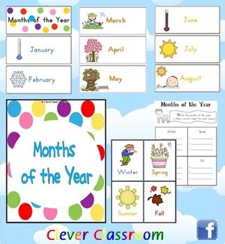 printable seasons poster months of the year cards seasons poster both