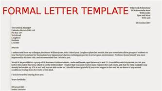 formal letter template sles business letters