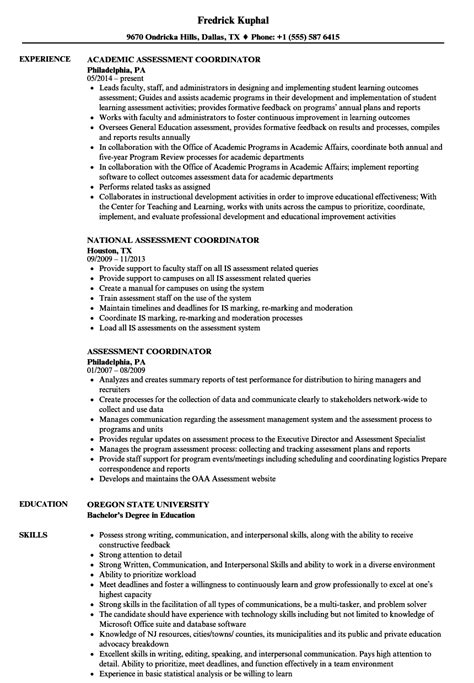 Assessment Coordinator Cover Letter by Administrator Sle Resumes Resident Caretaker Cover Letter