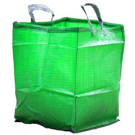 waste bags green 90 litre polypropylene garden waste bag reuse organic material bin sack