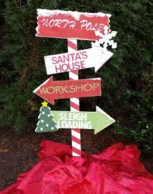 christmas decor wooden north pole yard stake outdoor