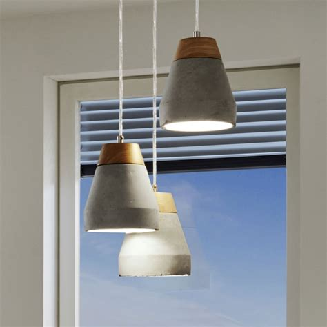 concrete and wood pendant light eglo 95526 tarega concrete and wood pendant light