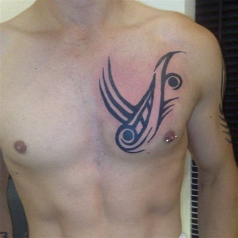 small mens chest tattoos tribal chest tattoos for