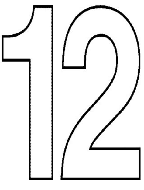 Number 12 Images Cliparts Co Coloring Pages For 12 And Up
