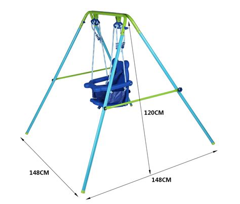 foldable baby swing garden yard outdoor kids toddler baby folding swing with