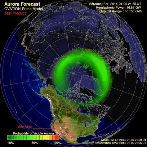 northern lights viewing map forecast for northern lights in central york tonight