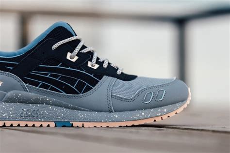 Asics Gel Lyte Iii Grey Light Blue asics gel lyte iii light grey black blue sneaker