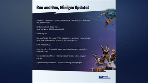 fortnite update new fortnite update is out now with minigun and some bugs