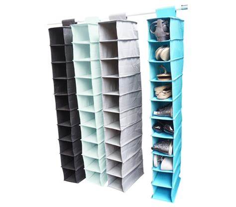 shoe organizer vibrant 10 shelf shoe organizer storage closet organizers