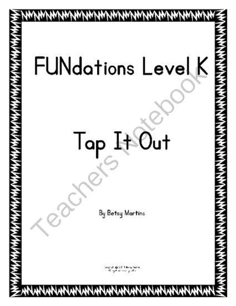 5 Letter Words Out Of Broach fundations level k tap it out from thespecialtyshop on