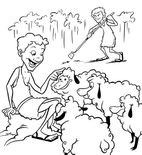 cain and abel coloring pages az coloring pages