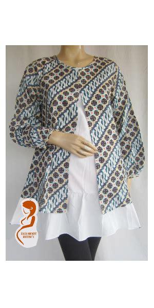 Baju Pakaian Dewasa Batik Syari Safira Pi baju menyusui batik parang aps071