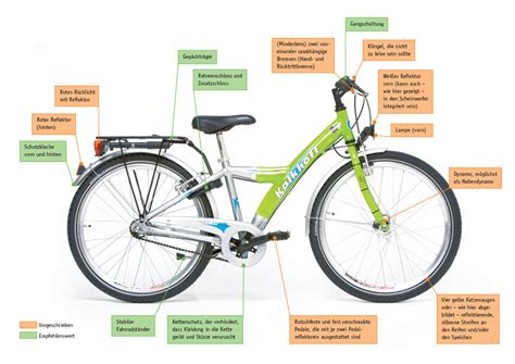 Beschriftung Verkehrssicheres Fahrrad by Wie Verkehrssicher Muss Ein Fahrrad Sein