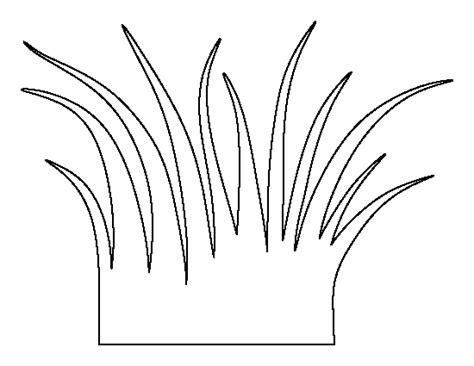 grass template free coloring pages of grass outline