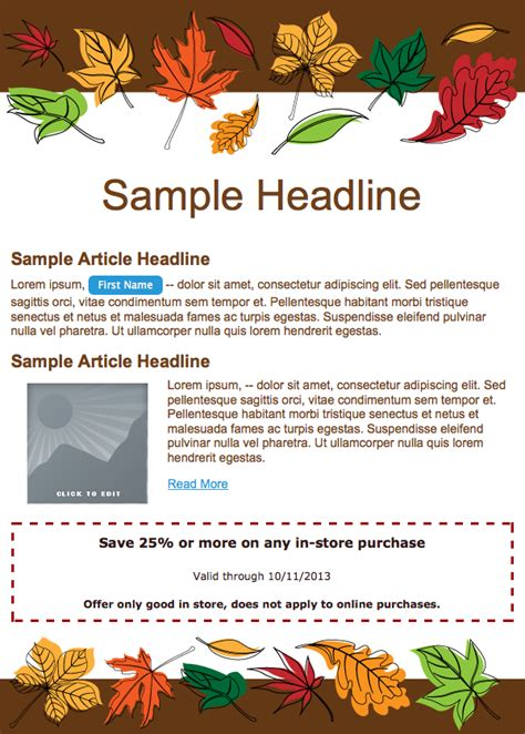 email templates celebrate thanksgiving email