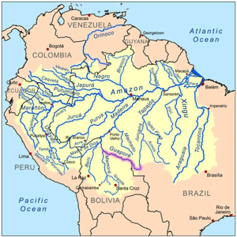 amazon river map guapor 233 river wikipedia