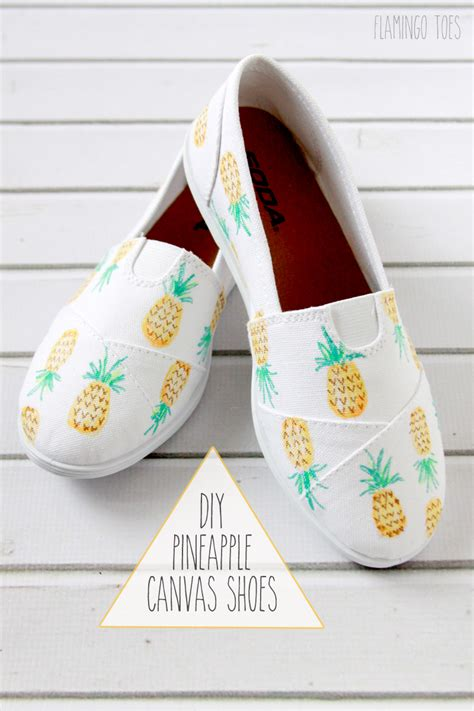diy shoe diy pineapple canvas shoes