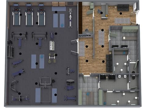 gym layout roomsketcher
