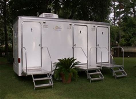 backyard wedding trailer mobile restroom three stall mobile royal restrooms