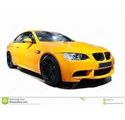 Yellow Car Bmw M3 Tiger Edition Royalty Free Stock Images
