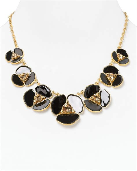 kate spade disco pansy graduated necklace 18 in gold