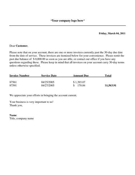 Sample Courtesy Past Due Notice Past Due Invoice Notice