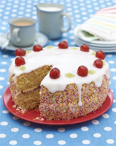 cherry sponge cake fab